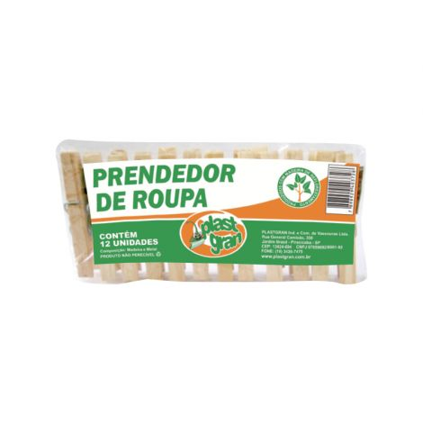 Prendedor de Madeira Comum - REF 198